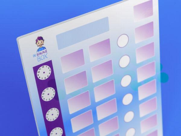 »Die Schlaue Box« Schul Edition Tagesplan aus Plexiglas für unterwegs