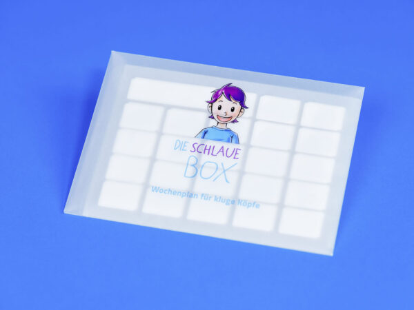 Neutrale Sticker aus dem Wochenplan für kluge Köpfe