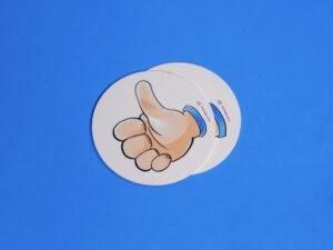 Sticker Daumen rauf aus der Schul-Edition